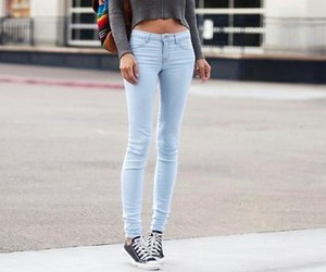jeans, girl, and converse image