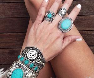 blue, ring, and bracelet image