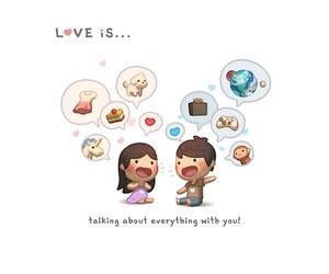 love, couple, and love is image