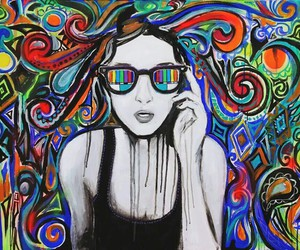 colors, art, and glasses image