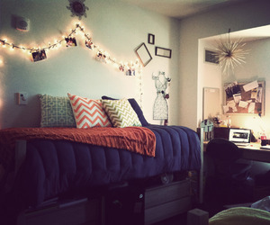 college, decor, and room image