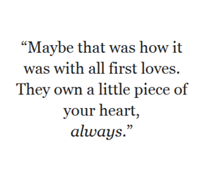 first love, heart, and quotes image
