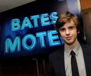 bates motel, freddie highmore, and norman bates image