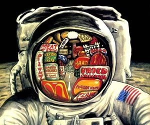 astronaut, colors, and drawing image