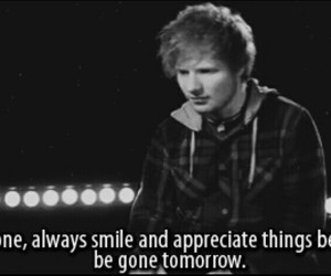 ed sheeran, quotes, and smile image