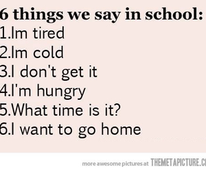 school, funny, and true image