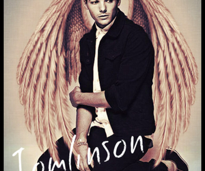 louis tomlinson, angel, and one direction image