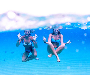 girl, water, and friends image