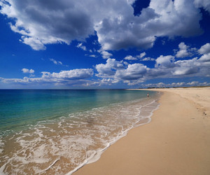 beach, lovely, and sea image