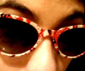 fashion girl, sun glasses, and pink image