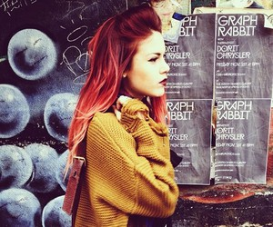 beautiful, red hair, and clothes image
