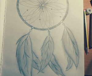 drawing, dream catcher, and tumblr image