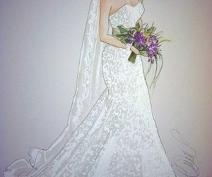 boda, bridal, and sketch image