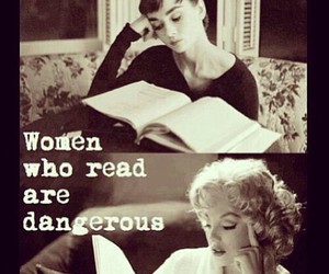 woman, book, and dangerous image