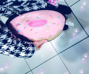 bulimia, clutch bag, and doughnut image