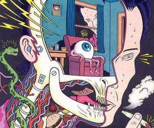 drugs, art, and trippy image