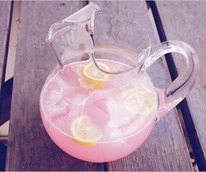 pink, drink, and lemonade image