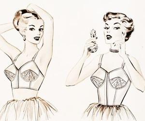 vintage and girl image