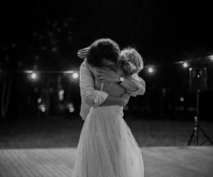 couple, wedding, and hug image