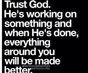 trust god love him be you image