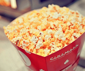 popcorn, food, and cinema image