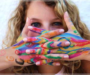 bodypainting, colourful, and rainbow image