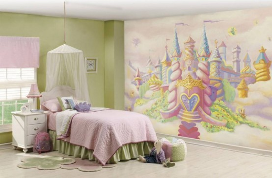 Kids Room Designs Princess And Ballerina Kid Bedroom Ideas For Girls Awesome In Themes Decorating With Huge Castle Wallpaper Fmihc
