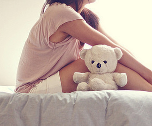 alone, hurt, and teddy image