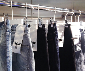 jeans, fashion, and acne image