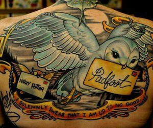 tattoo, harry potter, and owl image