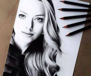 drawing, black and white, and art image