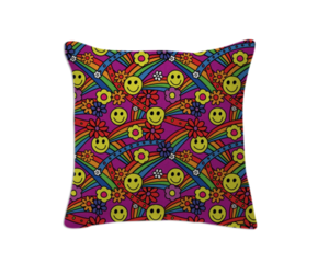cushion, hippie, and smiley image