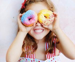 doughnut, girl, and summer image