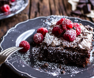 food, raspberry, and cake image