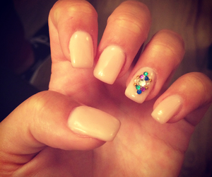 elegant, nail art, and Swarovski image