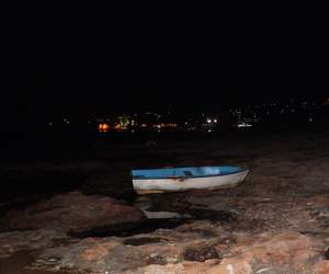 blue, night, and boat image