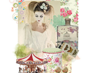 flowers, circus, and Polyvore image