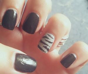animal print, black, and nail art image
