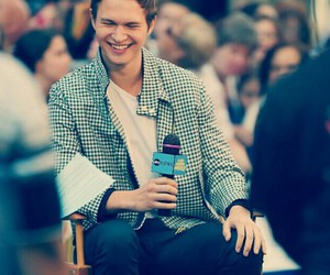 ansel elgort and smile image