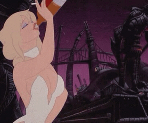 blonde, cartoon, and alcohol image
