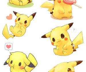 pokemon, anime, and pikachu image