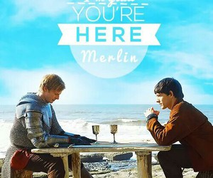 king arthur, merlin, and merthur image