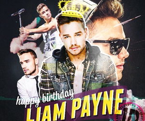 liam payne, birthday, and 1d image