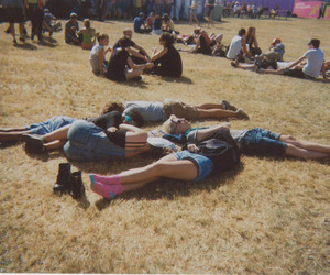 disposable camera, festival, and nap image
