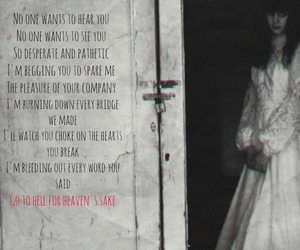 black and white, bmth, and Lyrics image