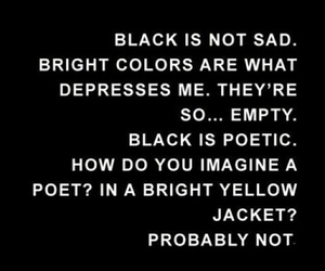 black, quote, and poetic image