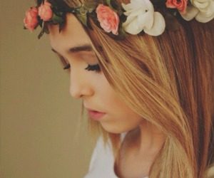 believe, flowers, and lips image
