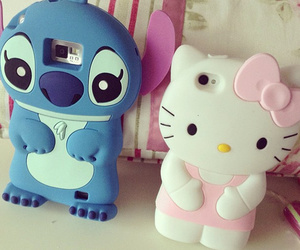 hello kitty, stitch, and case image