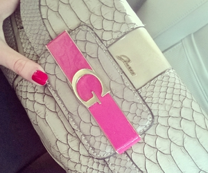 bag, clutch, and guess image