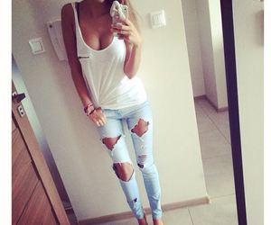 jeans, outfit, and love image